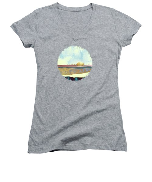 Hazy Afternoon Women's V-Neck T-Shirt (Junior Cut) by Katherine Smit