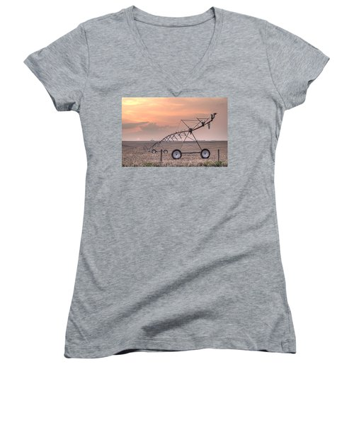 Hdr Sunset With Pivot Women's V-Neck