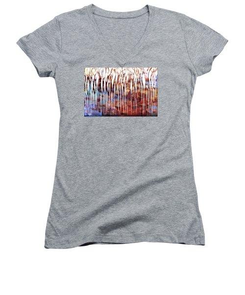 He Is Your Praise. Deuteronomy 10 21 Christian Art Women's V-Neck T-Shirt (Junior Cut) by Mark Lawrence