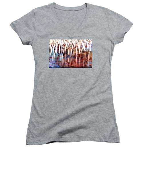 He Is Your Praise. Deuteronomy 10 21 Christian Art Women's V-Neck T-Shirt
