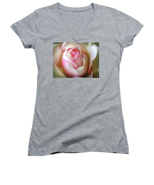Women's V-Neck T-Shirt (Junior Cut) featuring the photograph He Loves Me Still by Karen Wiles