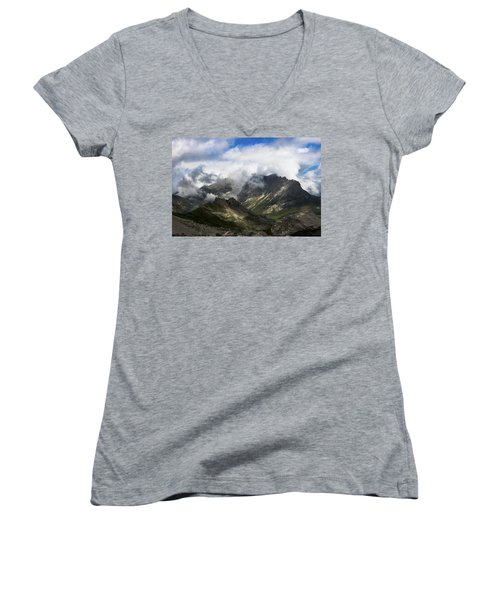 Head In The Clouds Women's V-Neck T-Shirt (Junior Cut)