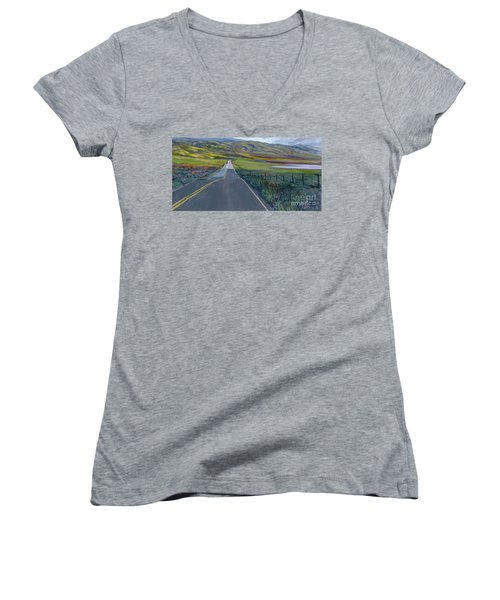 Heading For The Hills Women's V-Neck