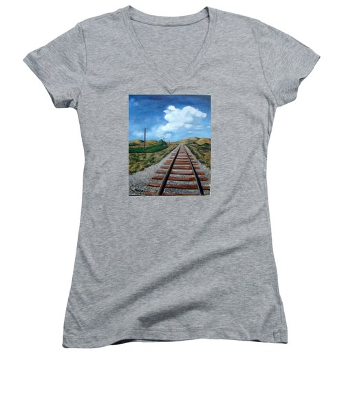 Heading West Women's V-Neck (Athletic Fit)