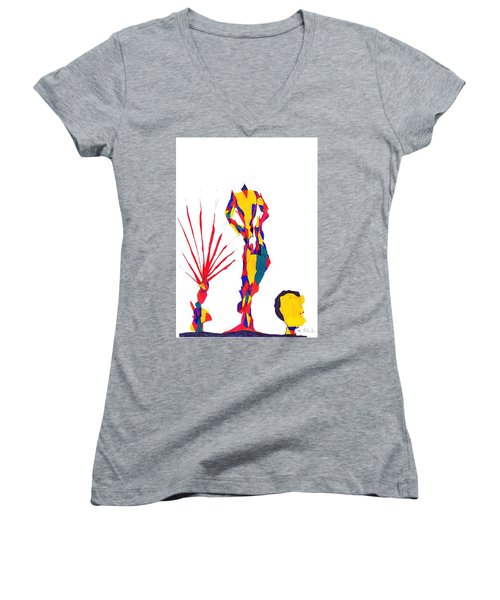 Headless Women's V-Neck T-Shirt