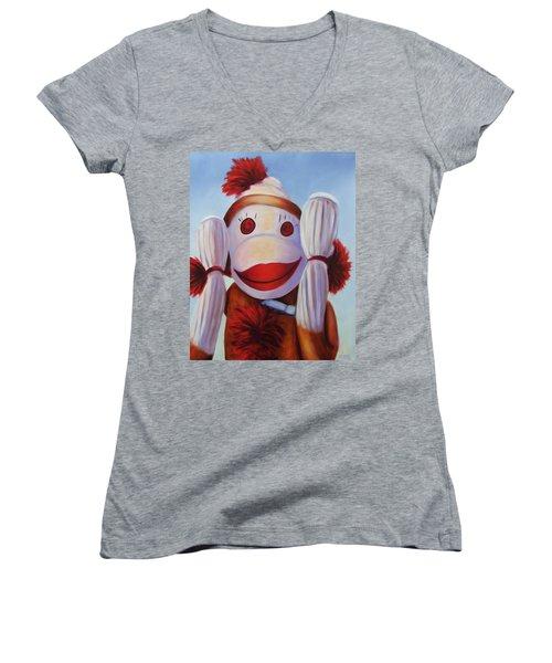 Hear No Bad Stuff  Women's V-Neck T-Shirt
