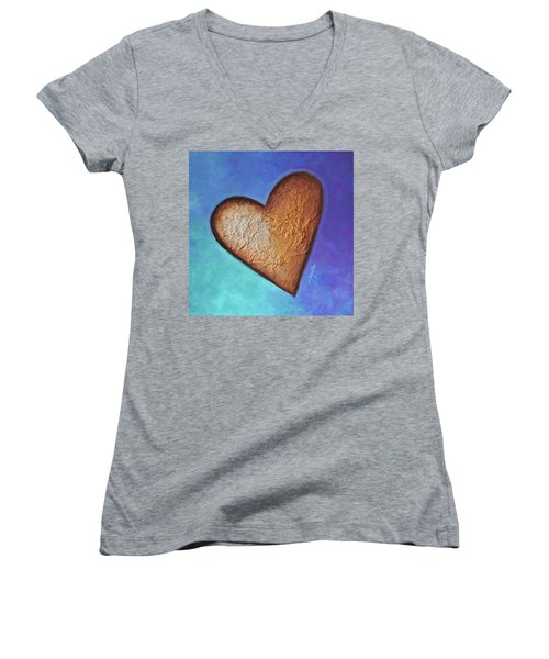 Heart Women's V-Neck T-Shirt (Junior Cut)