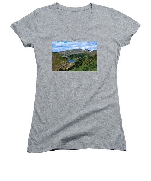 Heart Lake In The Indian Peaks Wilderness Women's V-Neck (Athletic Fit)