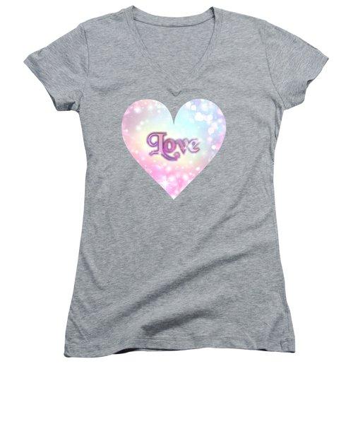 Heart Of Love Women's V-Neck