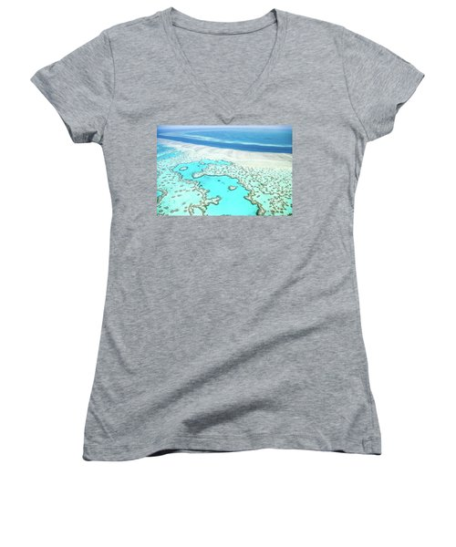 Heart Reef Women's V-Neck (Athletic Fit)