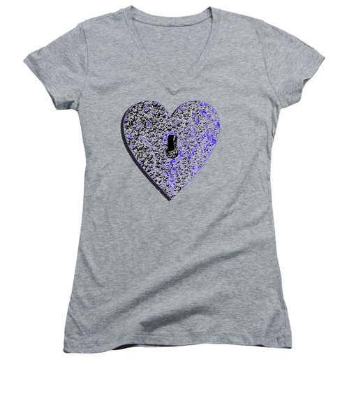 Heart Shaped Lock .png Women's V-Neck T-Shirt (Junior Cut)