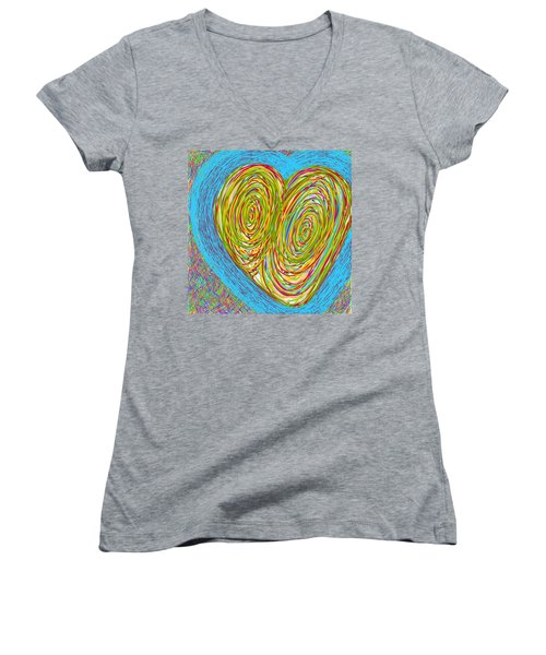 Hearts As One Women's V-Neck