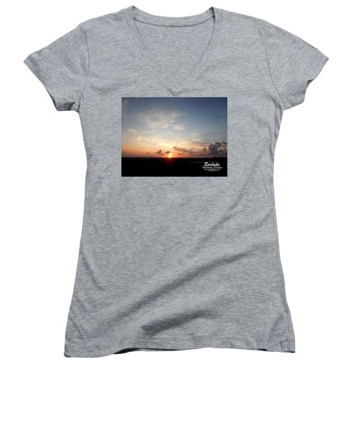 Hearts In The Distance Women's V-Neck