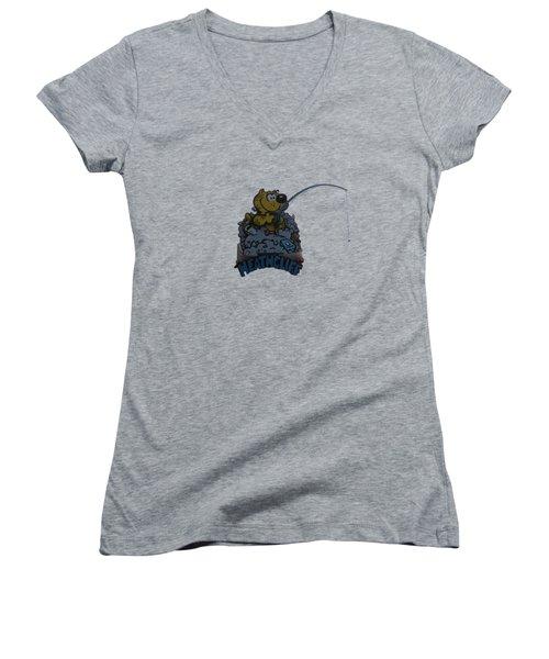 Heathcliff Women's V-Neck T-Shirt (Junior Cut) by Tom Prendergast