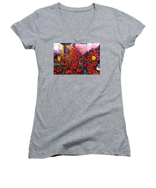 Heaven On Earth Women's V-Neck T-Shirt