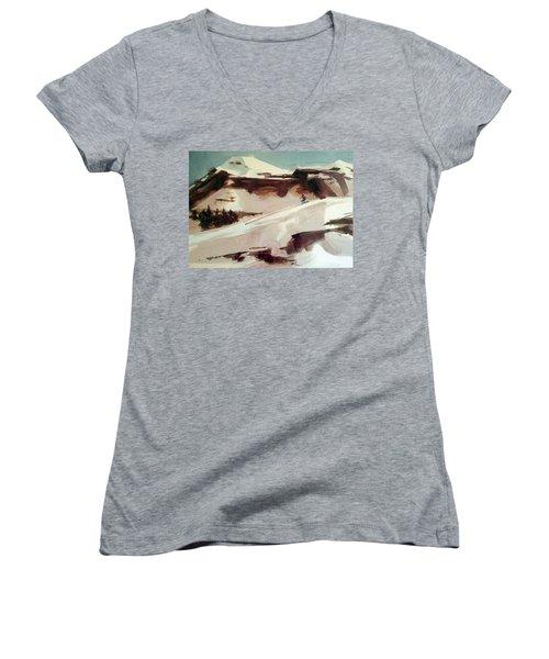 Heavenly Women's V-Neck T-Shirt (Junior Cut) by Ed Heaton