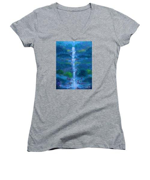 Heavenly Falls Women's V-Neck T-Shirt