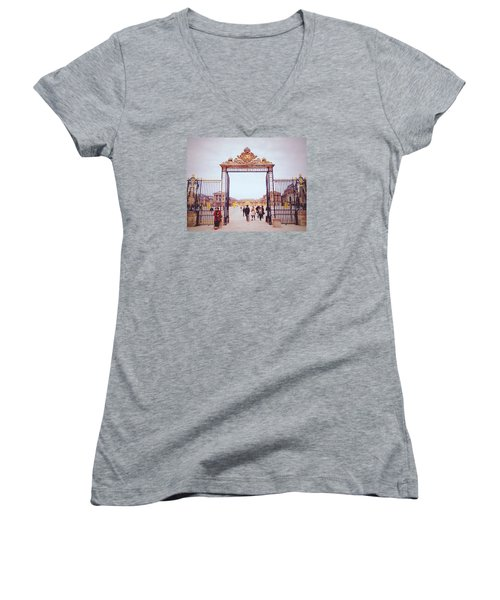 Heaven's Gates Women's V-Neck T-Shirt (Junior Cut) by Ashley Hudson