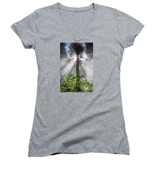 Heaven's Light Women's V-Neck T-Shirt (Junior Cut) by Greg Nyquist