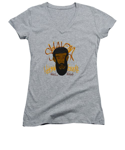 Hebrew Shalom 1 Women's V-Neck