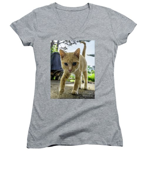 Hello Beautiful 136b Women's V-Neck (Athletic Fit)
