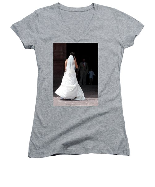 Hello Mama...i'm Not Sure.. Women's V-Neck (Athletic Fit)