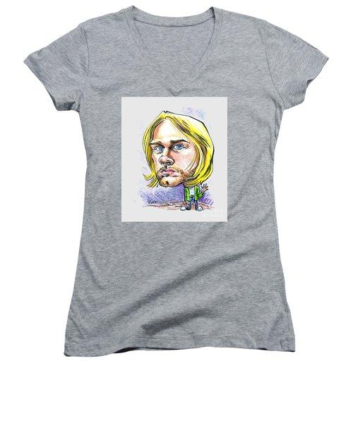 Hello Kurt Women's V-Neck T-Shirt