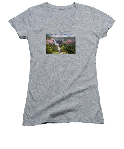 Helmcken Falls Women's V-Neck T-Shirt