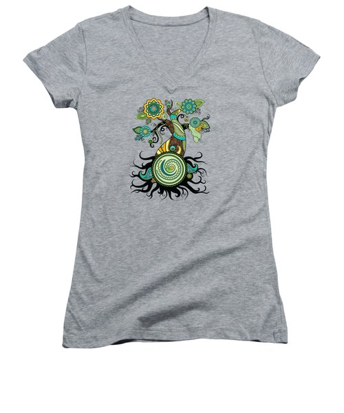 Henna Tree Of Life Women's V-Neck T-Shirt