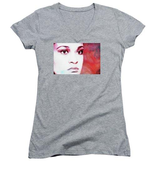 Her Soul Women's V-Neck T-Shirt (Junior Cut) by Joan Bertucci