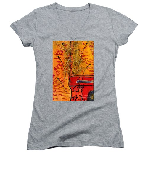 Her Vase Women's V-Neck T-Shirt (Junior Cut) by Angela L Walker