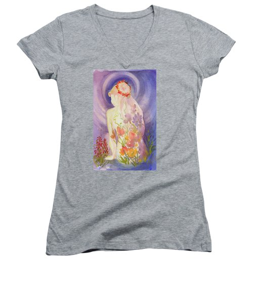 Herbal Goddess  Women's V-Neck T-Shirt