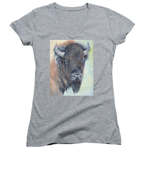Here's Looking At You - Bison Women's V-Neck