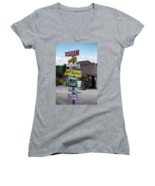 Here's What's Here 1 Women's V-Neck