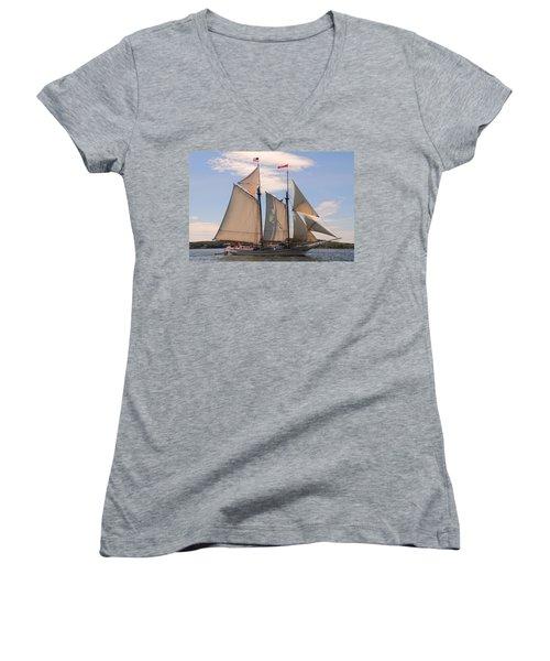 Heritage Full Sail Women's V-Neck (Athletic Fit)