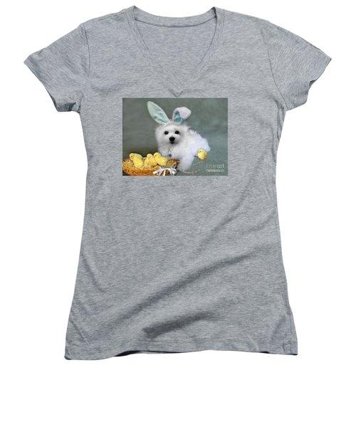 Hermes At Easter Women's V-Neck T-Shirt