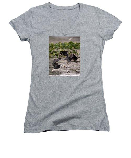 Heron Battle Women's V-Neck T-Shirt