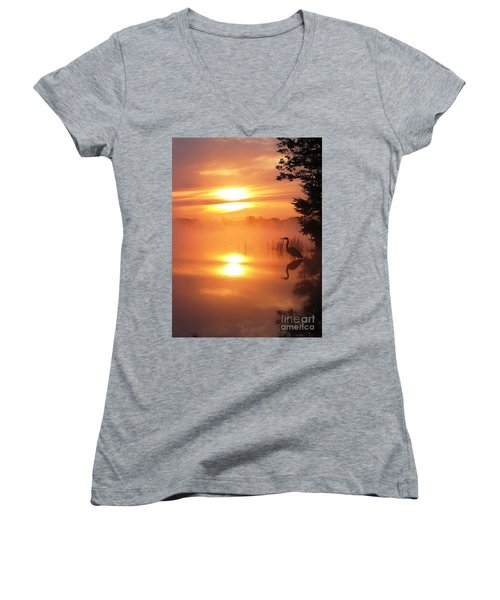 Heron Collection 2 Women's V-Neck T-Shirt