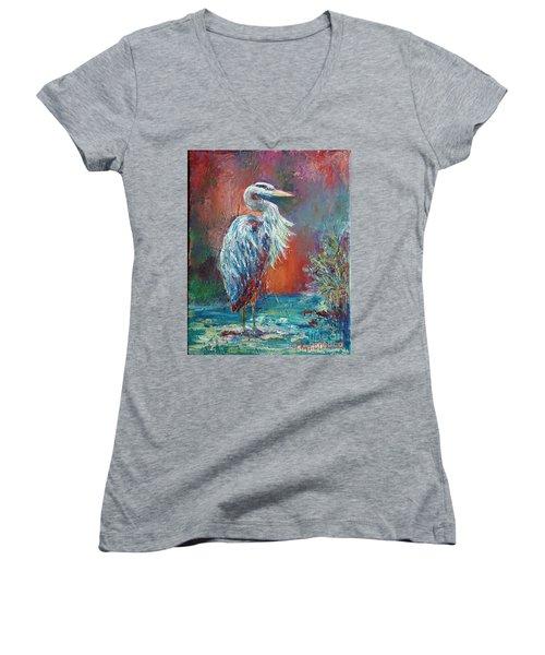 Heron In Color Women's V-Neck