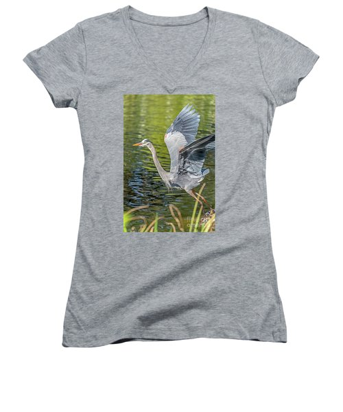 Heron Liftoff Women's V-Neck