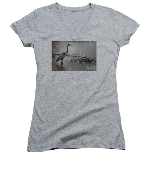 Heron Women's V-Neck T-Shirt