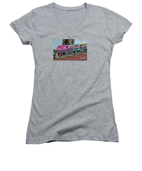 Hers And Hers Women's V-Neck T-Shirt
