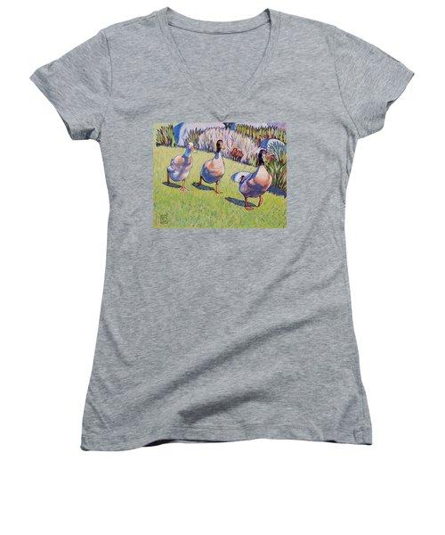 Hey, Wait Up Women's V-Neck T-Shirt