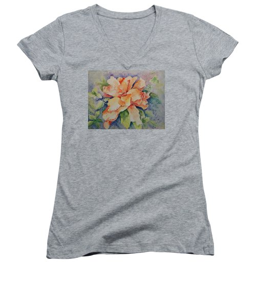 Hibiscus Women's V-Neck (Athletic Fit)