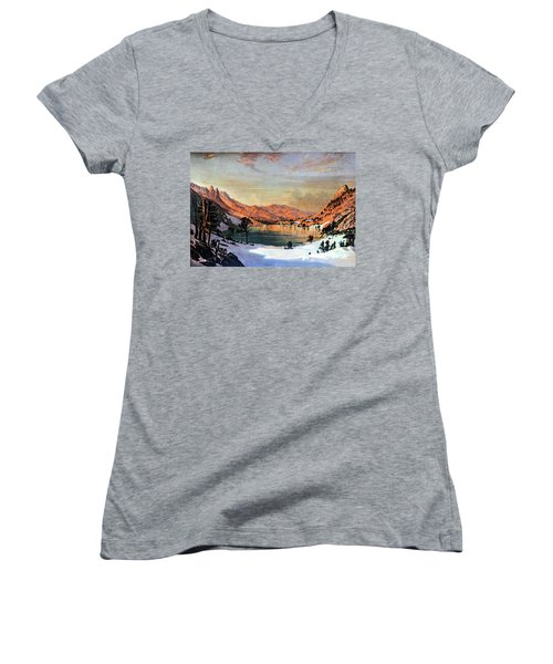 Hidden Lake Western United States Women's V-Neck (Athletic Fit)
