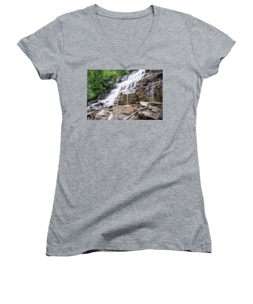 Hidden Waterfalls Women's V-Neck (Athletic Fit)