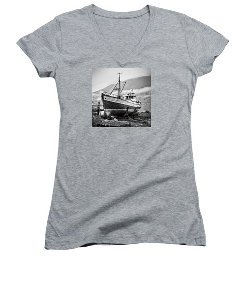High And Dry Women's V-Neck T-Shirt (Junior Cut) by Brad Grove