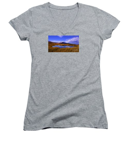 High Country Pond Women's V-Neck (Athletic Fit)