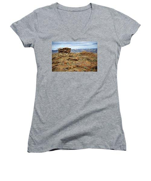 High Desert Cairn Women's V-Neck T-Shirt