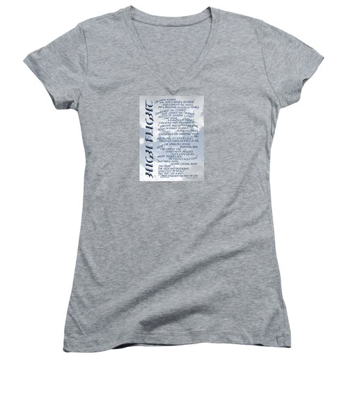 High Flight Women's V-Neck